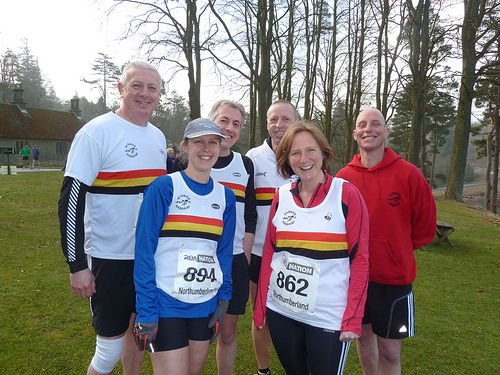 Cheese! Harriers before the Cragside 10k 2013