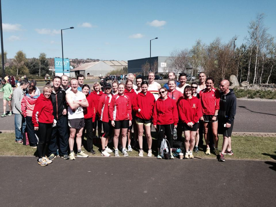 Team Alnwick at the 2014 Elswick Relays