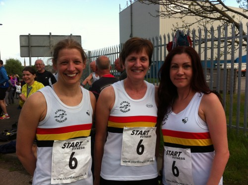 Tracey SAMPLE, Diana WEIGHTMAN and Jackie PROUSE-Wallsend Relays 2014