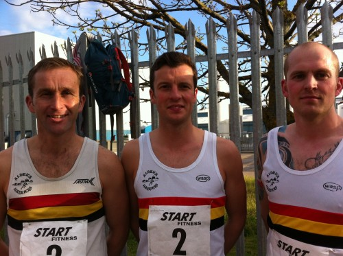 Geoff CAMPBELL, Steve PATTERSON and John HORSLEY-Wallsend Relays 2014