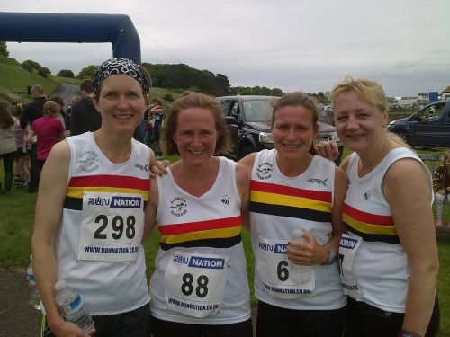Sarah SYERS, Ruth DOCTOR, Alex REED and Shelley COATES-Bamburgh 10k 2014