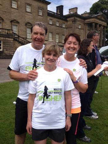 Ron, Morag and Carol-Wakefield Half Marathon 2014