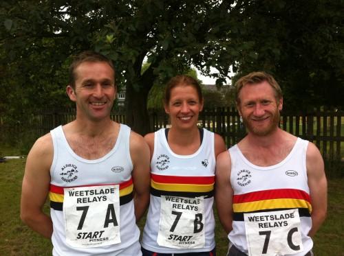 Weetslade Relay B Team-Geoff CAMPBELL, Tracey SAMPLE and Adam FLETCHER