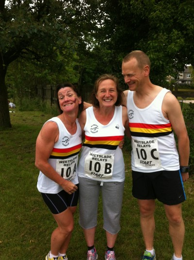 Weetslade Relays E Team-Denise DRUMMOND, Ruth DOCTOR and Mark DOCTOR