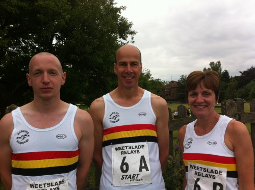 Alnwick's Team A-Graham SIMPSON, Phil HEMSLEY and Diana WEIGHTMAN