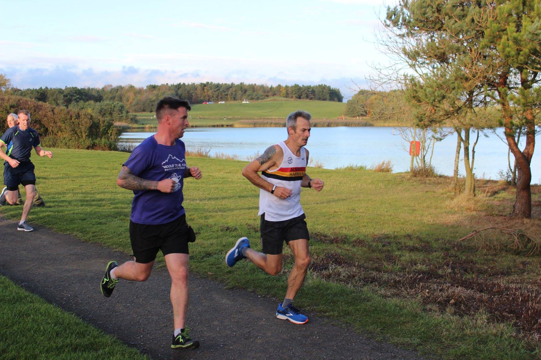 Jason Dawson at the Druridge Bay parkrun.