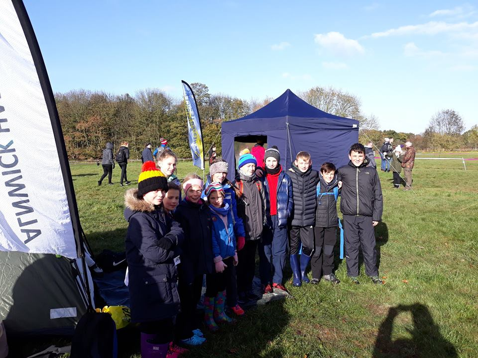 A small but enthusiastic team of juniors at the cross-country.
